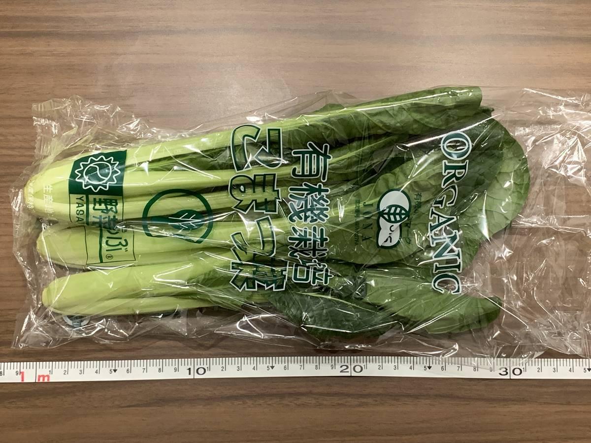 小松菜のサイズ