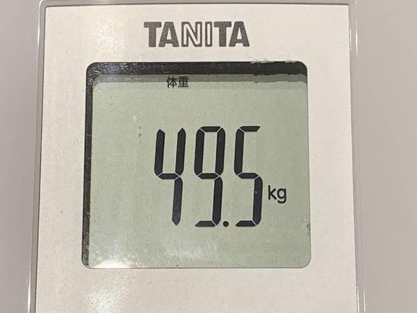 5日後の体重