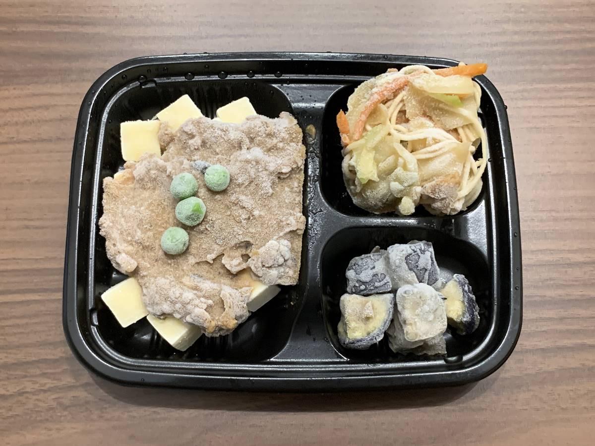 冷凍状態のお弁当